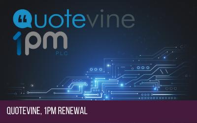 Quotevine 1pm Partnership Renewal